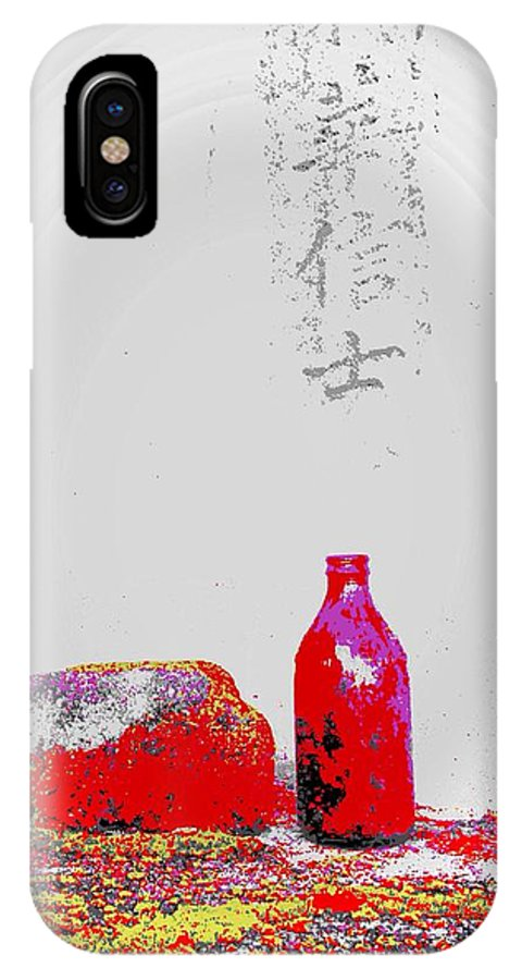 Japanese IPhone X / XS Case featuring the photograph Japanese Gravestone by Derek Henson
