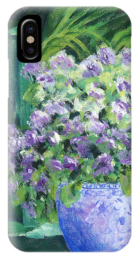 Impressionism IPhone Case featuring the painting Japanese Pot At Monets Home by Tara Moorman