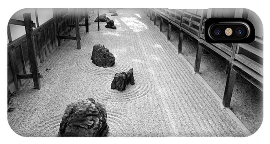 Japan IPhone X Case featuring the photograph Japanese Zen Garden by Sebastian Musial