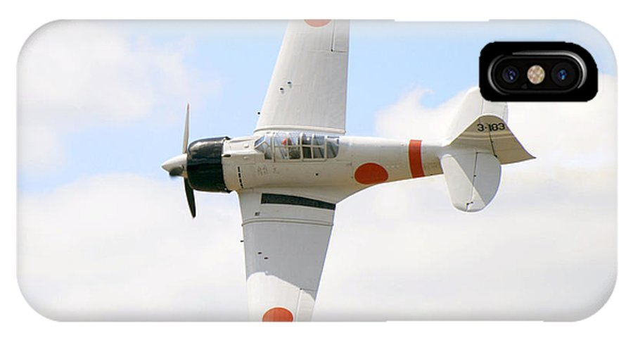 Airplanes IPhone X Case featuring the photograph Japanese Zero by Larry Keahey