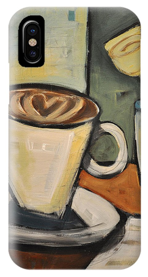Java IPhone X Case featuring the painting Java Love by Tim Nyberg