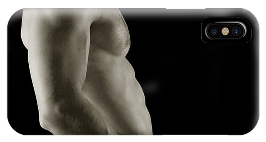 Male Erotic Photographs IPhone X Case featuring the photograph Javier Torso 3 by Dave Milstead