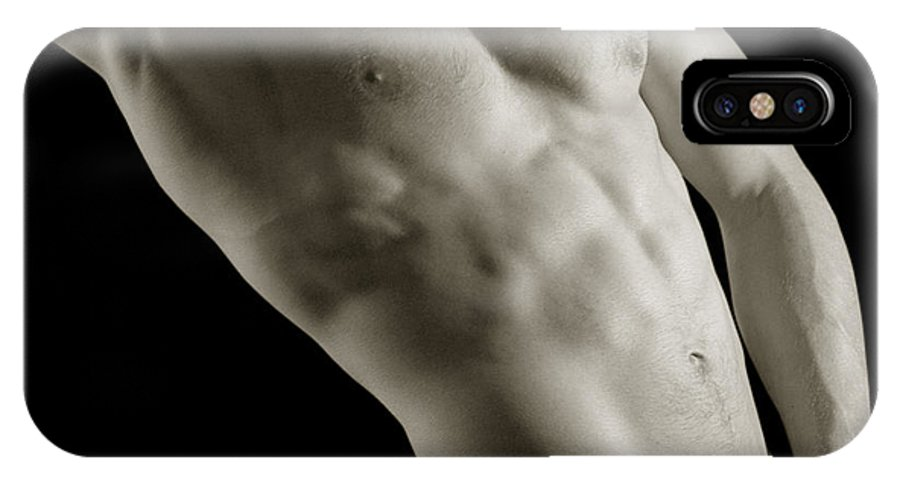 Male Erotic Photographs IPhone X Case featuring the photograph Javier Torso 4 by Dave Milstead