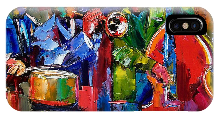 Jazz IPhone Case featuring the painting Jazz Beat by Debra Hurd