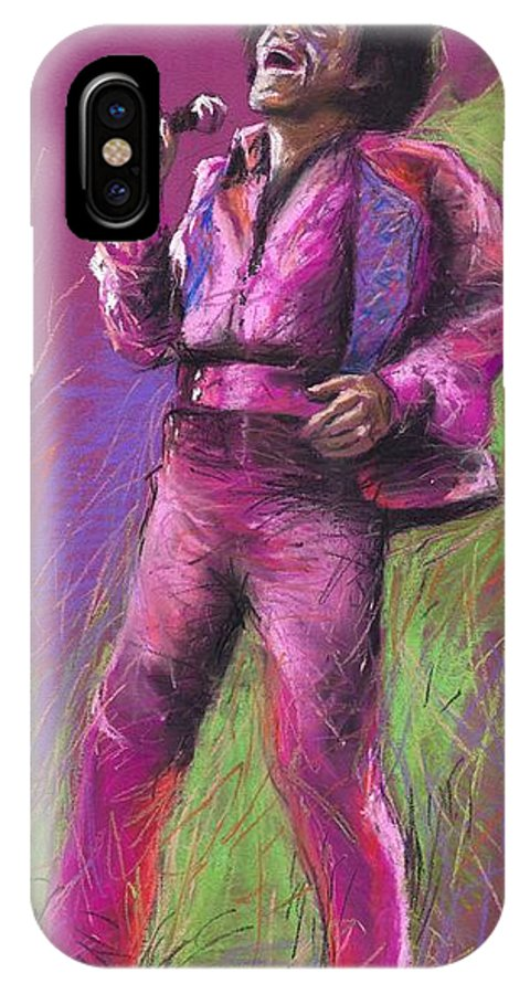 Jazz IPhone Case featuring the painting Jazz James Brown by Yuriy Shevchuk