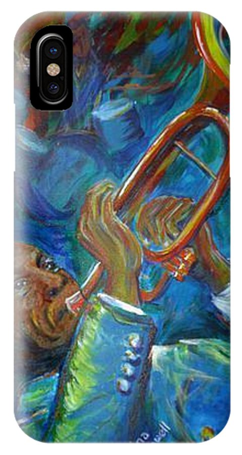 Jazz IPhone X Case featuring the painting Jazz Man by Regina Walsh