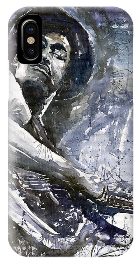 Jazz IPhone Case featuring the painting Jazz Marcus Miller 01 by Yuriy Shevchuk