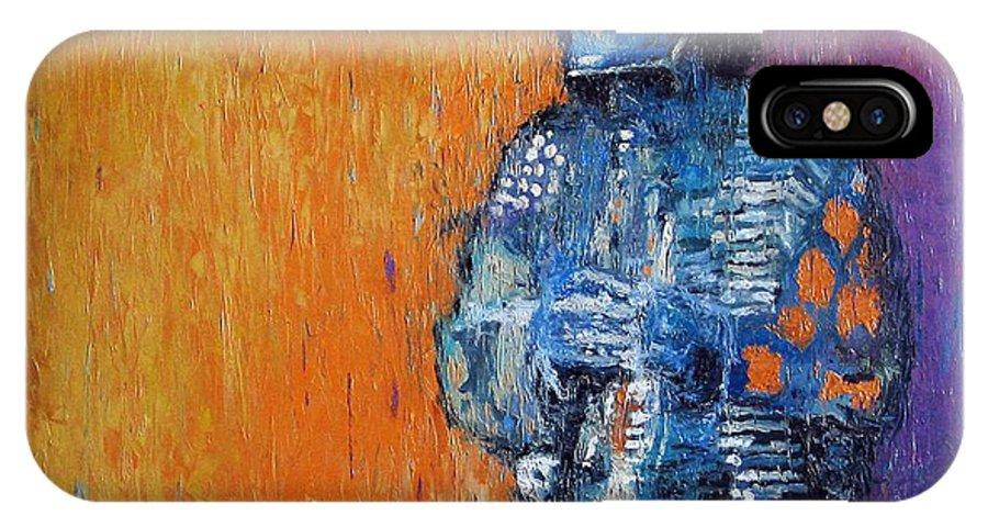 Jazz IPhone X Case featuring the painting Jazz Miles Davis 2 by Yuriy Shevchuk