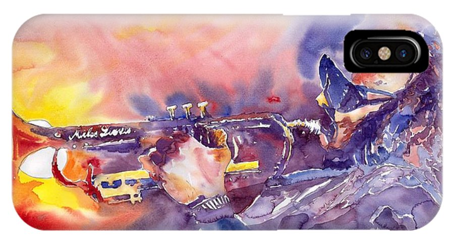 Jazz Watercolor Miles Davis Music Musician Trumpeter Figurative Watercolour IPhone Case featuring the painting Jazz Miles Davis Electric 1 by Yuriy Shevchuk
