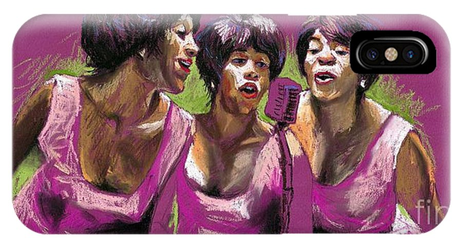 Jazz IPhone X Case featuring the painting Jazz Trio by Yuriy Shevchuk
