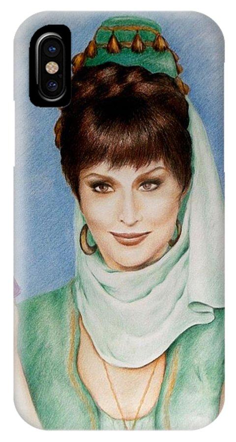 I Dream Of Jeannie IPhone X Case featuring the drawing Jeannie's Nightmare by Yelena Day