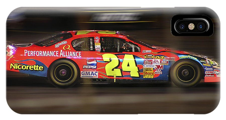 Jeff Gordon IPhone X Case featuring the photograph Jeff Gordons Cup Car by Kenneth Krolikowski
