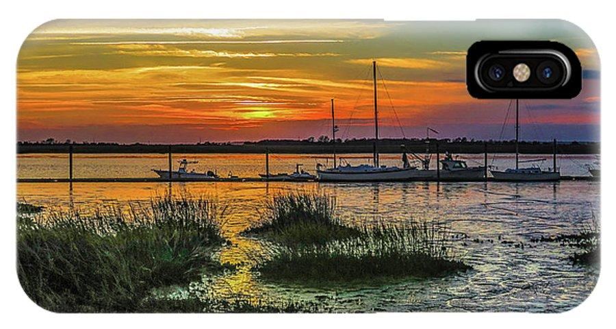 Jekyl Island IPhone X Case featuring the photograph Jekyl Island Sunset by William Randolph