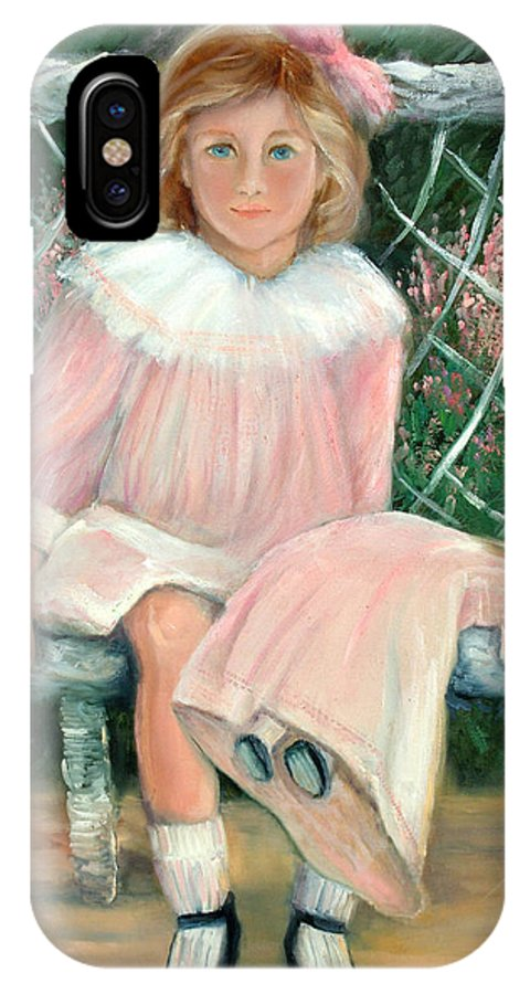 Girls IPhone X Case featuring the painting Jenney by Sally Seago