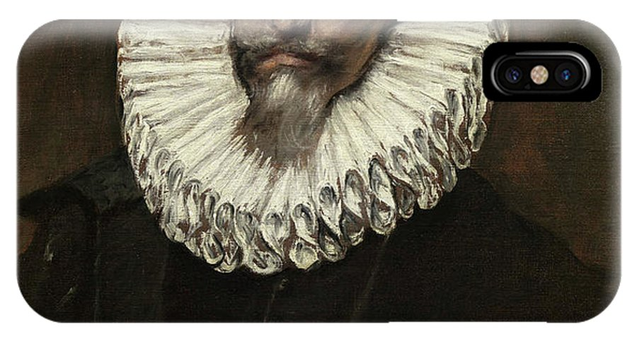 Beard IPhone X Case featuring the painting Jeronimo De Cevallos by El Greco