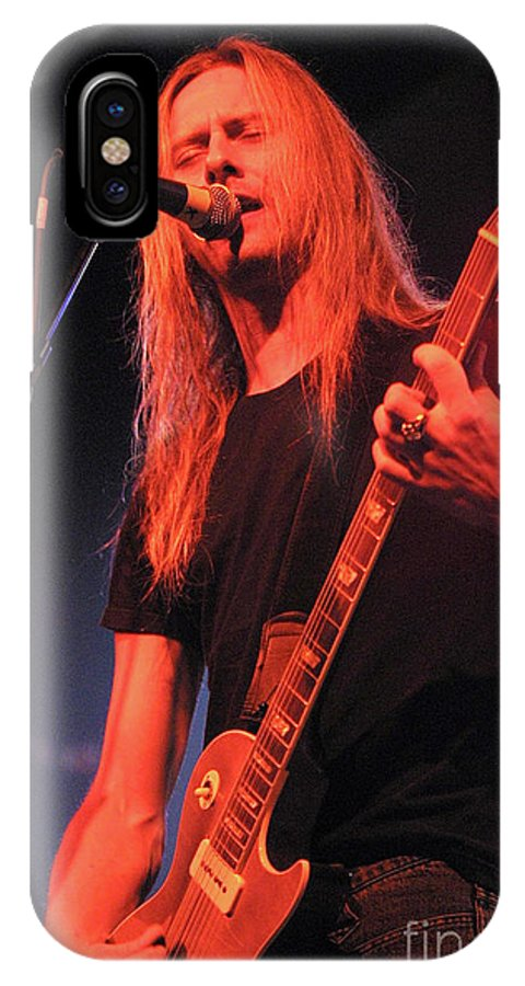Alice In Chains IPhone X Case featuring the photograph Guitarist Jerry Cantrell by Concert Photos