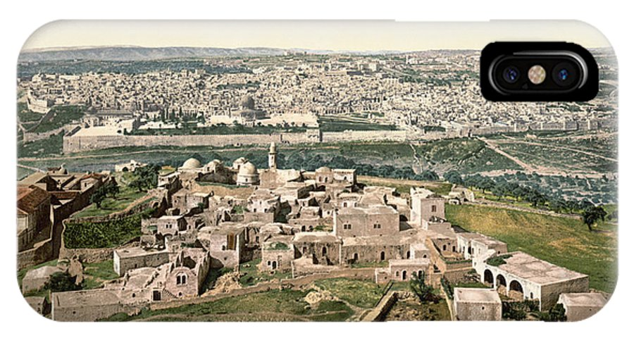1900 IPhone X Case featuring the photograph Jerusalem, C1900 by Granger