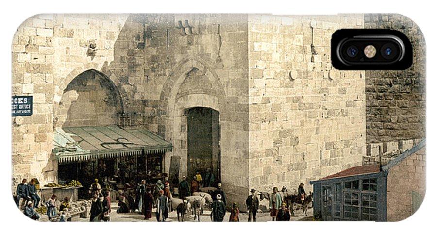 1900 IPhone X Case featuring the photograph Jerusalem: Jaffa Gate by Granger