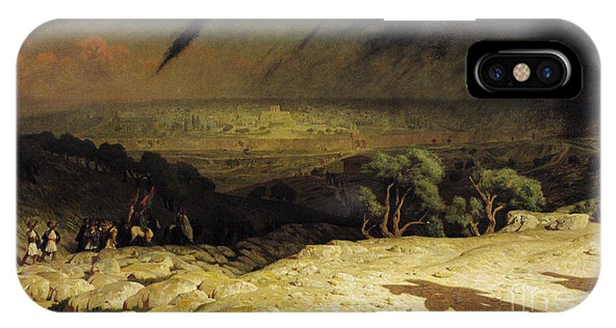 Jerusalem IPhone X Case featuring the painting Jerusalem by Jean Leon Gerome
