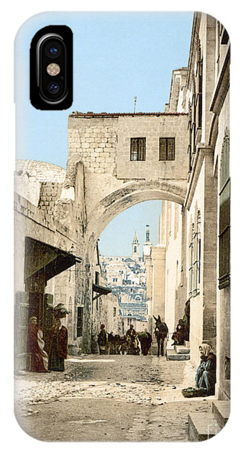 1900 IPhone X Case featuring the photograph Jerusalem: Via Dolorosa by Granger