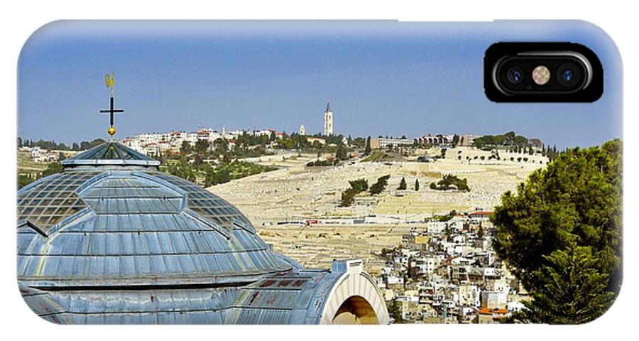 Jerusalem IPhone X Case featuring the photograph Jerusalem View by Barbara Stellwagen