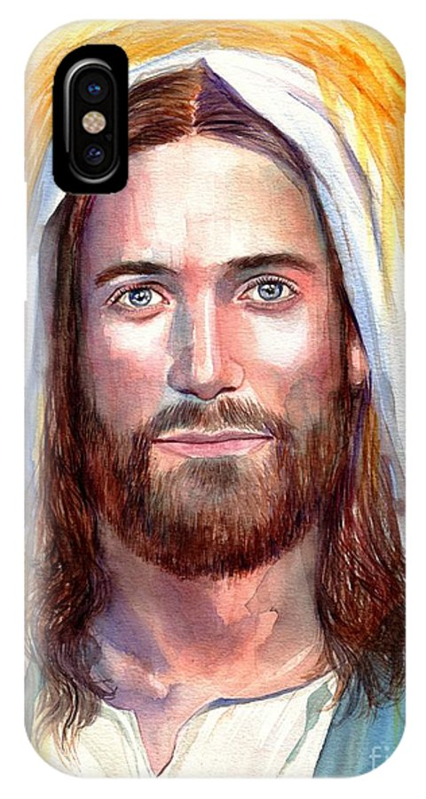 Jesus IPhone X Case featuring the painting Jesus Of Nazareth Painting by Suzann Sines