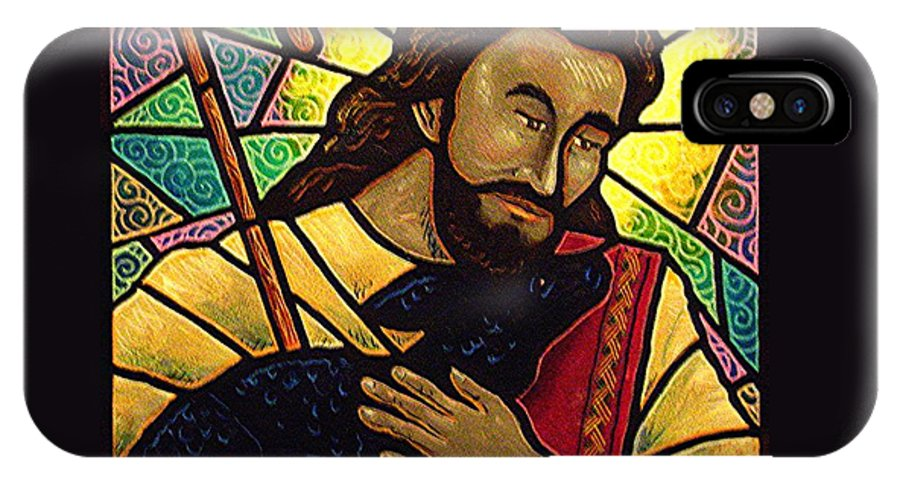 Jesus IPhone Case featuring the painting Jesus The Good Shepherd by Jim Harris