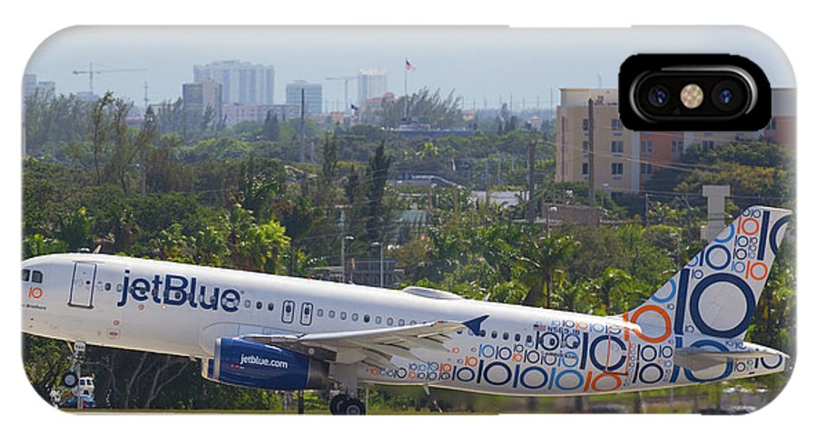 Jetblue IPhone X Case featuring the photograph Jet Blue Blues Brothers by Dart and Suze Humeston