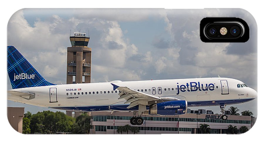 Airline IPhone X Case featuring the photograph Jetblue Fll by Dart and Suze Humeston