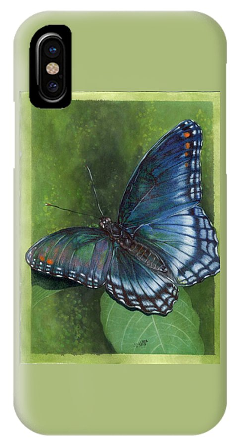 Insects IPhone X Case featuring the mixed media Jewel Tones by Barbara Keith