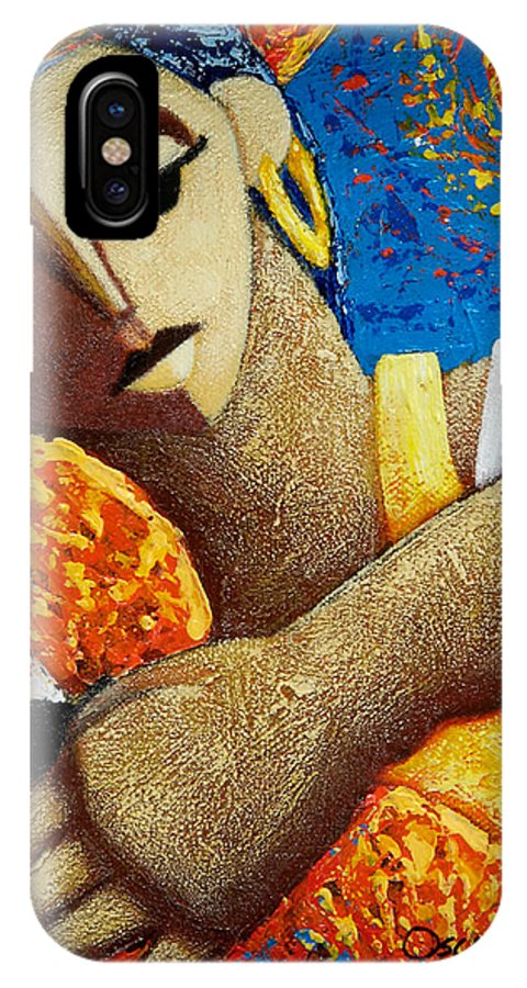 Puerto Rico IPhone X Case featuring the painting Jibara Y Sol by Oscar Ortiz