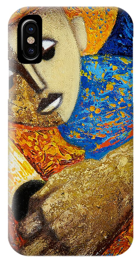 Color IPhone Case featuring the painting Jibaro Y Sol by Oscar Ortiz
