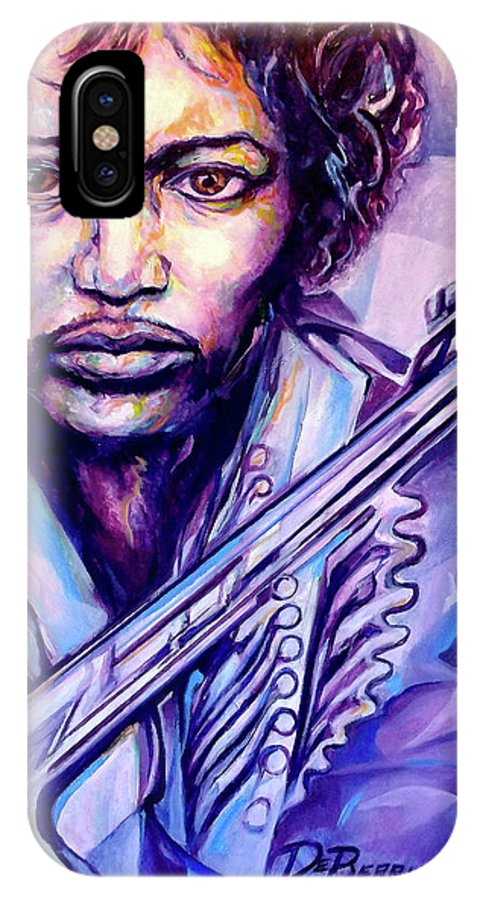 IPhone X Case featuring the painting Jimi by Lloyd DeBerry
