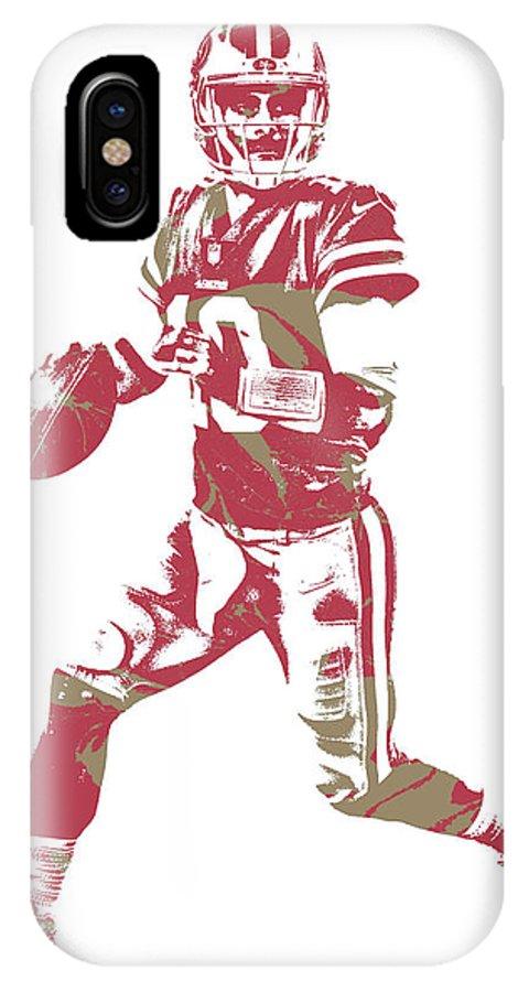 Jimmy Garoppolo IPhone X Case featuring the mixed media Jimmy Garoppolo San Francisco 49ers Pixel Art 2 by Joe Hamilton