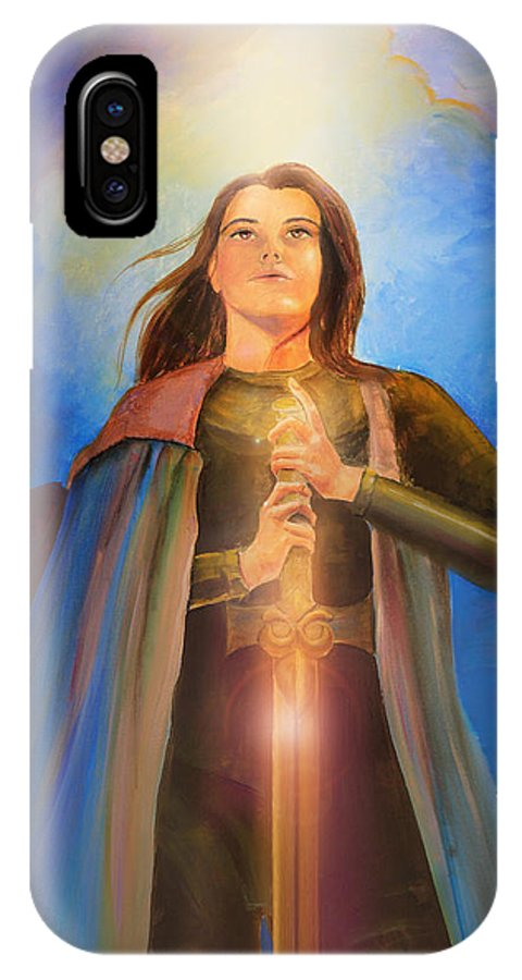 Joan Of Arc IPhone X / XS Case featuring the painting Joan Of Arc by Lucinda Rae