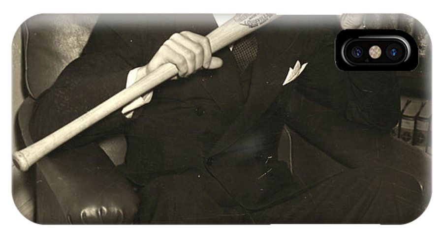 1941 IPhone X Case featuring the photograph Joe Dimaggio (1914-1999) by Granger