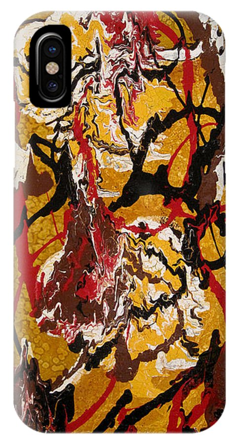 Abstract Art IPhone X Case featuring the painting Joe Sweet by Jill English