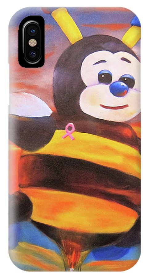 Hot Air Balloon IPhone X Case featuring the painting Joey by Sherry Strong