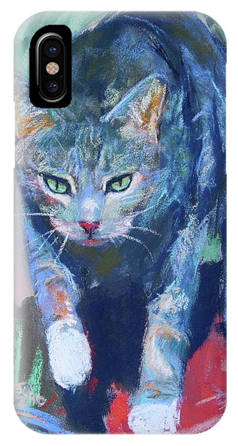 Joey IPhone X Case featuring the painting Joey The Nugget by Sandy Lindblad