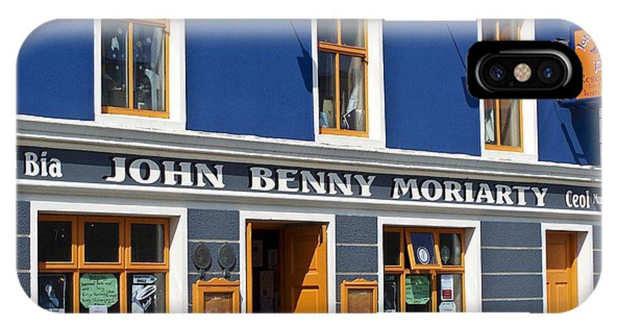 Irish IPhone X Case featuring the photograph John Benny by Teresa Mucha