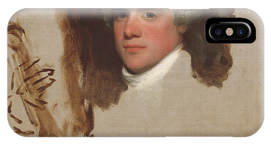 IPhone X Case featuring the painting John Bill Ricketts by Gilbert Stuart