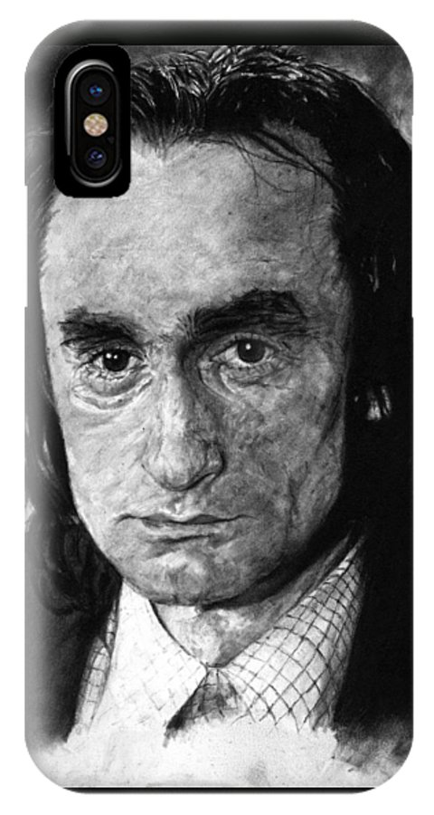 Portrait Man Men Charcoal Art Life Godfather Deer Hunter Dog Day Afternoon Gray Grey Tone John Actor IPhone X Case featuring the drawing John Cazale by Priscilla Vogelbacher