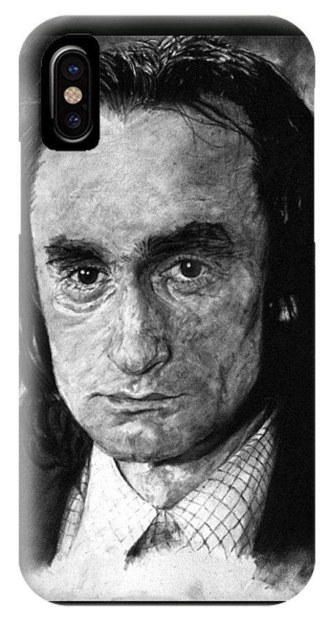 Portrait Man Men Charcoal Art Life Godfather Deer Hunter Dog Day Afternoon Gray Grey Tone John Actor IPhone Case featuring the drawing John Cazale by Priscilla Vogelbacher