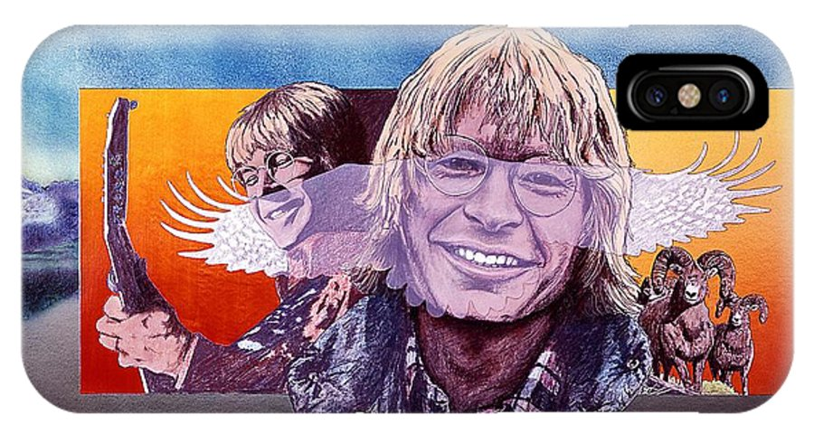 John Denver IPhone Case featuring the mixed media John Denver by John D Benson
