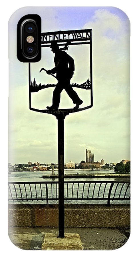 East River IPhone X Case featuring the photograph John Finley Walk II by Madeline Ellis