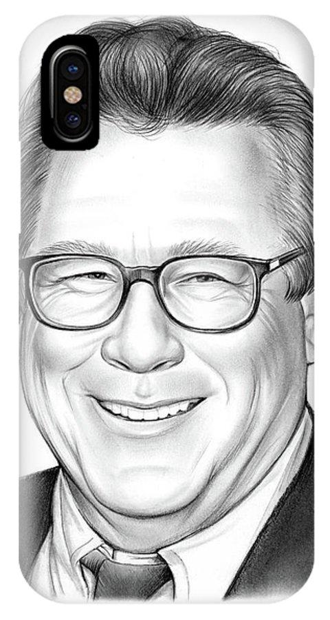 Rip IPhone X Case featuring the drawing John Heard by Greg Joens