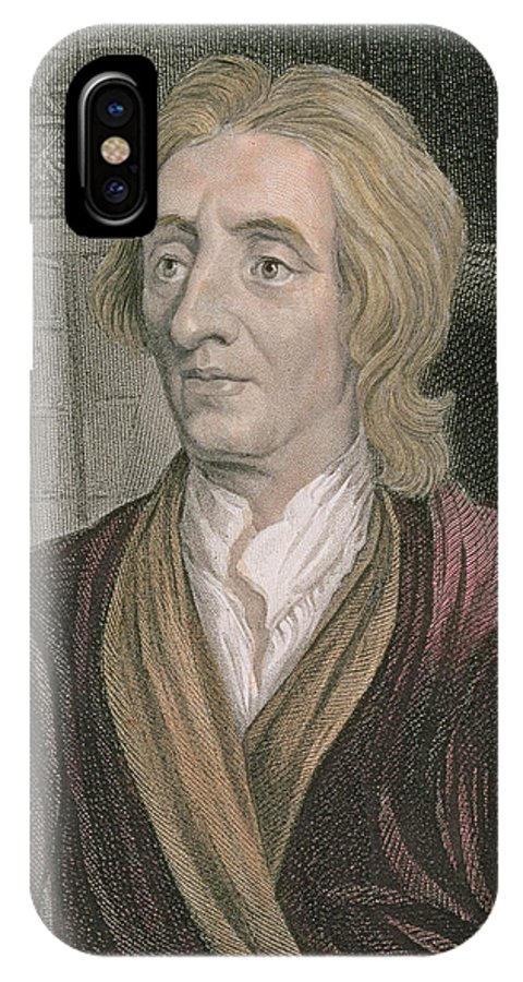 John Locke IPhone X Case featuring the painting John Locke by Sir Godfrey Kneller