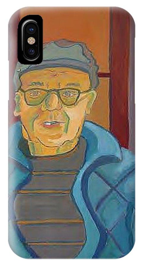 Portrait IPhone Case featuring the painting John Paris by Debra Bretton Robinson