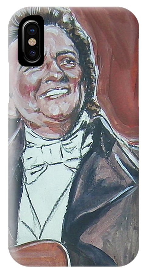 Johnny Cash IPhone X Case featuring the painting Johnny Cash by Bryan Bustard