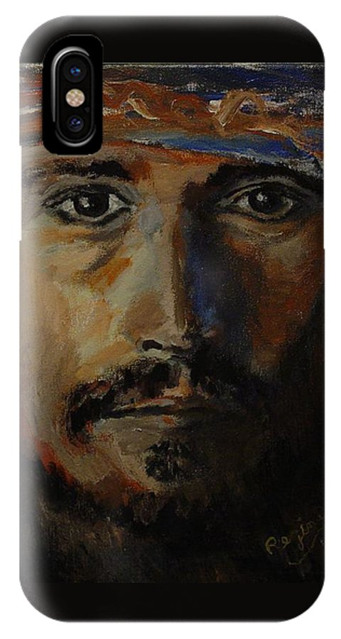 Johnny Depp IPhone Case featuring the painting Johnny Depp Savvy by Regina Brandt